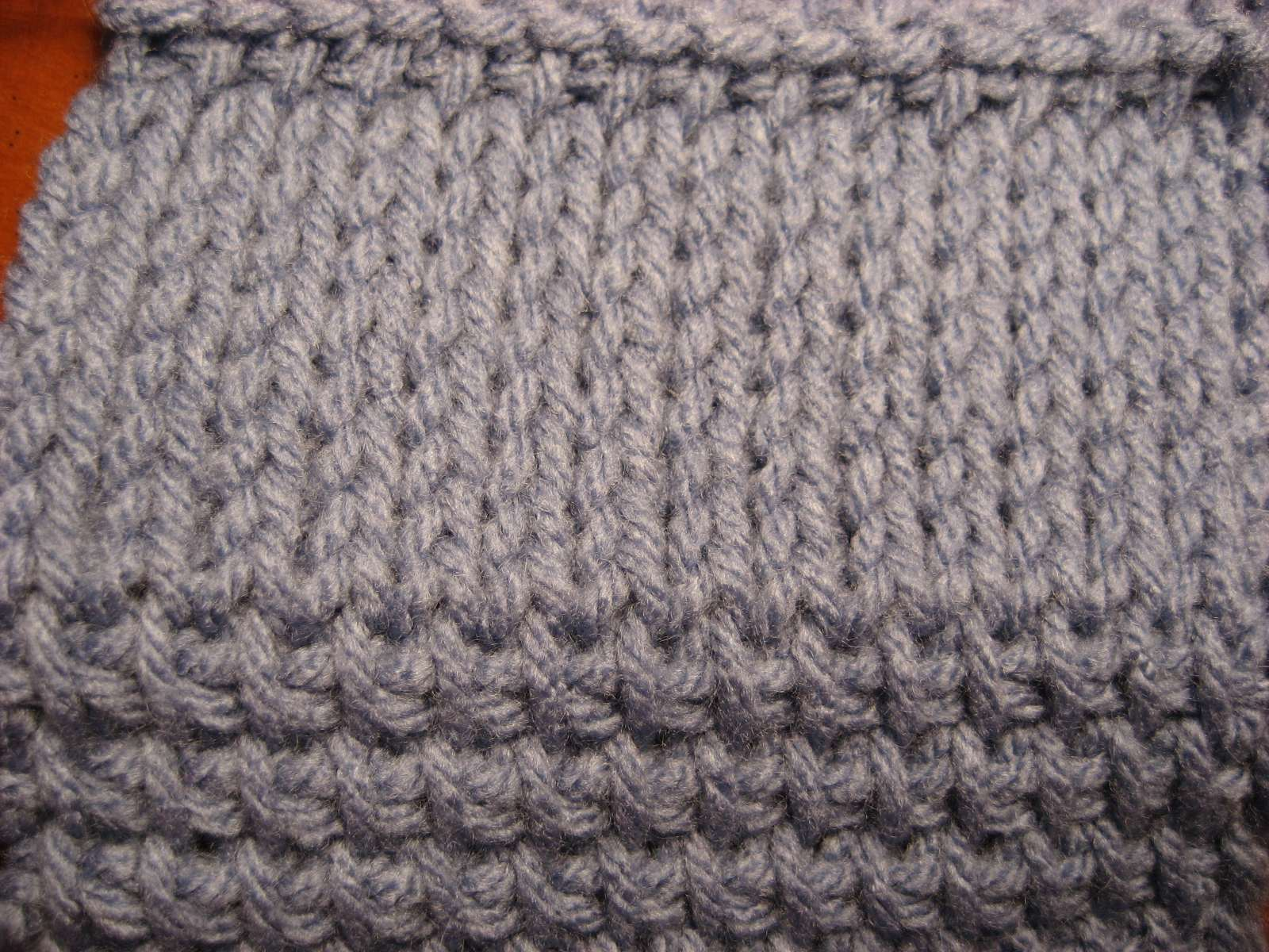 Crochet Stitches That Look Knit : the above picture is obviously a knitted fabric because the stitches ...